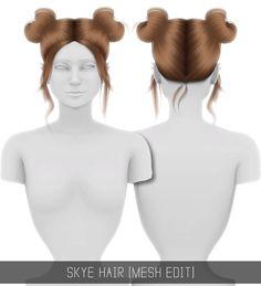 Simpliciaty: Skye hair retextured for Sims 4 The Sims 4 Pc, Sims Four, Sims Cc, Sims 4 Game Mods, Sims 4 Mods, Sims Games, Sims 4 Black Hair, The Sims 4 Cabelos, Pelo Sims