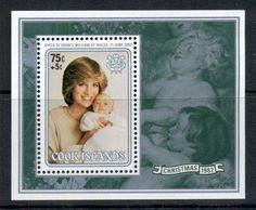 Cook Is 1982 Xmas, Princess Diana & William 1xMS MUH