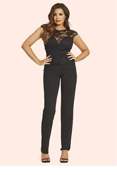 397585a80d8 Jessica Wright Blair Black Lace Overlay Jumpsuit £85.00 This season the  jumpsuit is huge -