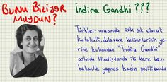 Bunu Biliyor muydun? - İndra Gandhi ???