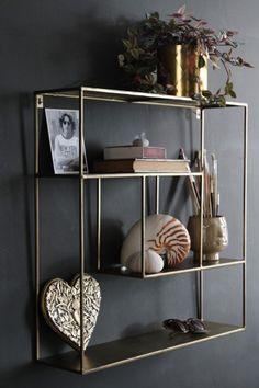 Brass Quadratic Shelf Unit