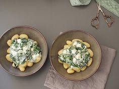 Recipe, Rezept, Gnocchi, ppinach, Spinat, Ziegenfrischkäse, Schafskäse, Sauce, Veggie, vegetarisch, schnell, 15 Minuten, einfach, lecker, gesund, healthy