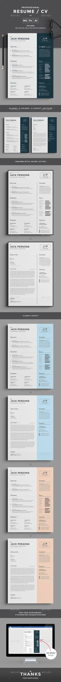 Resume Modern Resume with Photo Resume Template