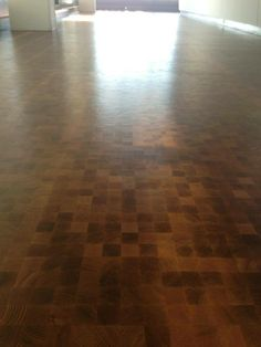 End block flooring filled and sealed. Hardwood Floors, Flooring, Restoration, Wood Floor Tiles, Wood Flooring, Floor