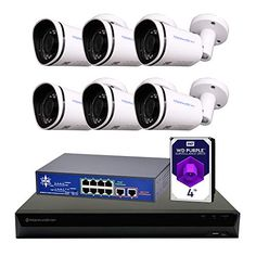 Morphxstar NVR POE Bullet Camera System Home Security Surveillance Ip Security Camera, Wireless Home Security Systems, Security Surveillance, Security Cameras For Home, Security Alarm, Surveillance System, Security Products, Ip Camera System, Home Monitoring System