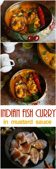 Yum Indian fish curry in light mustard sauce recipe, Indian Food recipes via @topupyourtrip
