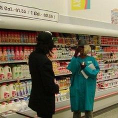 Checking out the dairy section...