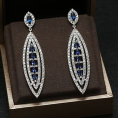 Find More Drop Earrings Information about Blue and Clear Water Drop Dangle Earring,Great Design,AAA+ Cubic Zirconia Micro Pave Fashion Earring JP30659E,High Quality earring led,China earring and necklace set Suppliers, Cheap earrings base from Yashow Jewelry Co.,Ltd( Yuki Store ) on Aliexpress.com
