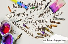 Marika KK Calligraphy: The world of calligraphy- Tervetuloa kalligrafian maailmaan