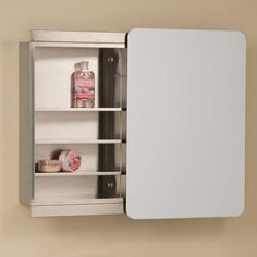 Moderno Stainless Steel Medicine Cabinet with Sliding Mirror - Bathroom