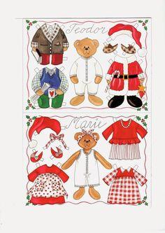 BEARS Teador and Marie Danish Paper Dolls