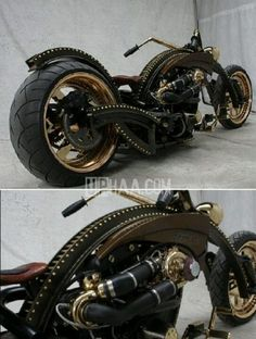 Steampunk motorcycle. I need it real bad.
