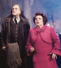 Argus Filch and Dolores Umbridge - David Bradley and Imelda Staunton in Harry Potter and the Order of the Phoenix.