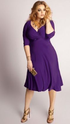IGIGI Francesca Plus Size Dress in Amethyst | More plus size clothing ideas here: http://mylusciouslife.com/where-to-find-plus-size-clothing-shopping-online/