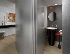 Chicago - Millennium Park Powder Room - Mitchell Channon Design (=)