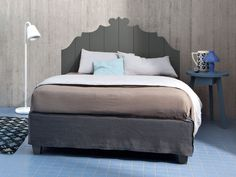 Double bed with removable cover GRAY 80 by Gervasoni design Paola Navone