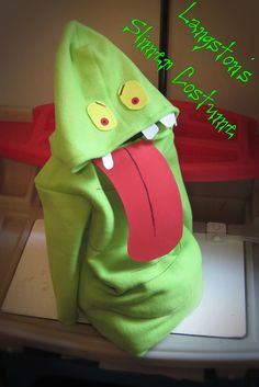 Slimer Costume I made for our Family Ghostbuster Theme.