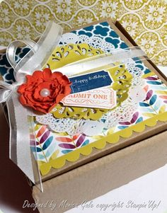 Stampin' Up! Treat Holder  by Monica Gale at Monica's Many Passions: gift box