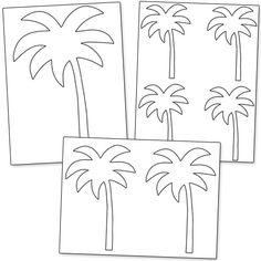 Printable Palm Tree Template from PrintableTreats.com