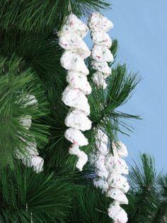 Icicle Ornaments | Yarn | Free Knitting Patterns | Crochet Patterns | Yarnspirations