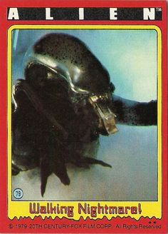 "#79 ""Walking Nightmare"" --  ALIEN trading cards (1979, Topps)"