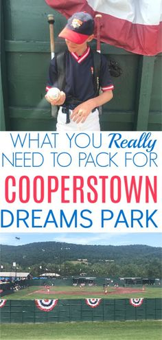 Headed to Cooperstown this summer? You've already spend a fortune to get there so here the Cooperstown Dreams Park Player Packing Checklist on a Budget. You don't need to overpack! Baseball Couples, Travel Baseball, Baseball Fashion, Baseball Boys, Baseball Games, Softball, Baseball Scoreboard, Baseball Tickets, Funny Baseball