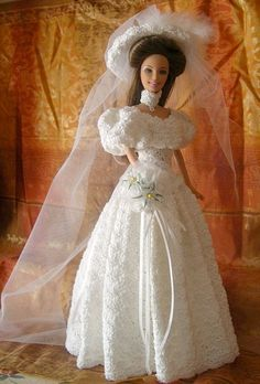Barbie OoAK Anita Crochet Fashion Doll Bride