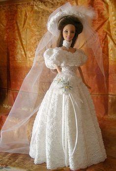Barbie OoAK Anita Crochet Fashion Doll Bride