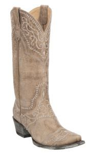 Yippee Ki Yay by Old Gringo Women's Bone with Embroidery Western Snip Toe Boots | Cavender's