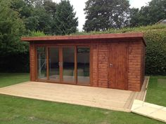 Sliding garden room with integrated store, search