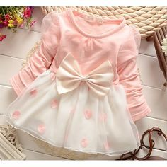 f661f53e57985 ベビー服中国tc1016水玉模様の弓長袖のかわいいベビードレス写真仕入れ、問屋
