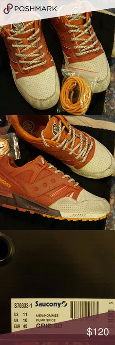 Shoes Suede Pumpkin spice in color good condition Saucony Shoes Sneakers