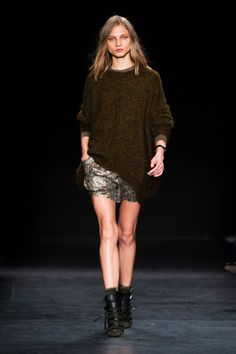 Louche, luxe and insouciant are words most often used for Marant—seen in slouchy, messy layers paired with shorts and minis with shine.   - HarpersBAZAAR.com