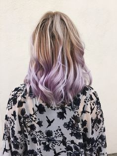 Lavender Ombré Hair | Blonde melting into pastel | Hair by Grace Penhale in Denver, CO and Los Angeles, CA | @mydarlinglight