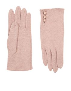 Warm up with our stylish wool-blend gloves, designed with side button details.  A cold weather essential.