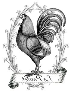 The Graphics Fairy - DIY: Printable Image Transfer - French Chicken