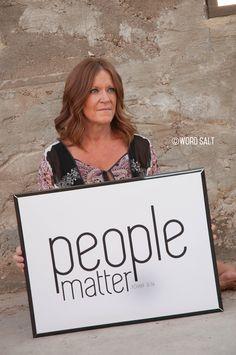 People Matter Poster Print from wordsaltprints.com