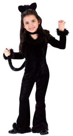 Cute black cat costume