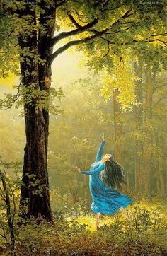 Another beautiful image of Luthien dancing by Ted Nasmith.