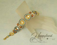 Soutache bracelet with Swarovski