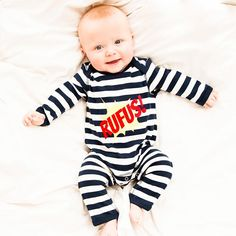 Personalised Kapow Baby Romper - 100% ethically produced cotton