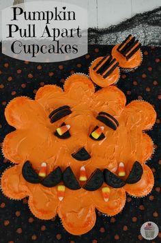 Pumpkin Pull Apart Cupcakes