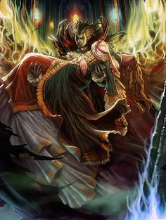 Artist: Unknown name aka songjjang100 - Title: Unknown - Card: Immortal Vampire Lord (Drain)