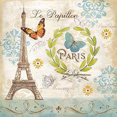RB7407CC <br> Le Papillon Paris I <br> 12x12