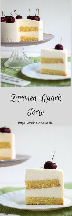 Sommerliche Zitronen-Quark-Torte