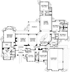 Optional Dream Home Would turn game room into formal dining room.  Study would make a nice tv room for the kids.