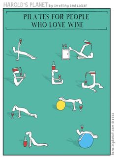 Now THIS is OUR kind of workout routine! Pilates for people who love #wine #Cheers