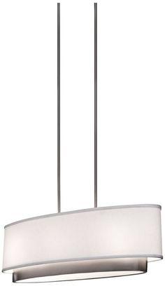 Artcraft Scandia Brushed Nickel 31-Inch-W Pendant Light - #EUW4362 - Euro Style Lighting
