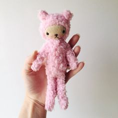 Tiny Kawaii Teddy Bear Stuffed Animal Plushie in by bijoukitty