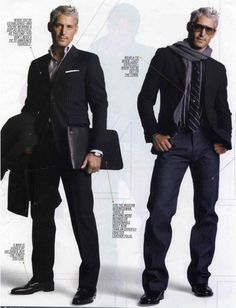Had to pin this. I love me some grey, especially when it comes in the form of a grey haired male model. ;)